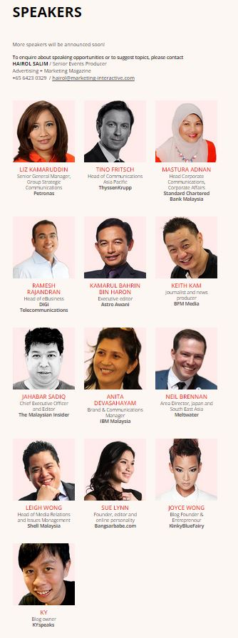 Comms Malaysia Speakers
