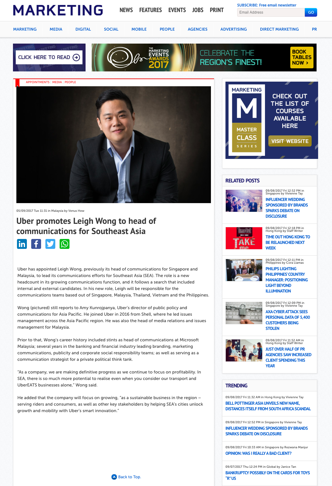 FireShot Capture 1 - Uber promotes Leigh Wong to head of co_ - http___www.marketing-interactive.co